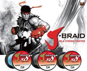 60% Off Daiwa J-Braid Grand x8 Fishing Braid Line 3000 Yds-Pick Color/Line Test