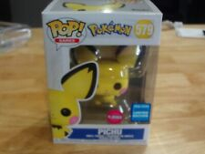Funko Pop! WONDERCON EXCLUSIVE Games Pokemon FLOCKED Pikachu #579