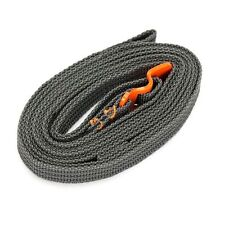 Orange EDC Gear Travel Strapping Cord Tape Rope Tied Pull Luggage Stainless Hook