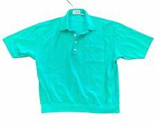 Lawrence Welk Resort Shop Golf Shirt, Kelly Green, 1/2 Button Polo LARGE Vintage
