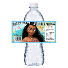 20 DISNEY MOANA PERSONALIZED BIRTHDAY PARTY FAVORS WATER BOTTLE LABELS WRAPPERS