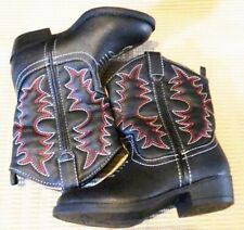 Boots Cowboy boys new sizes 8M, 9M or 10M Healthtex black