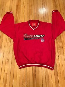 Coors Light Authetic NFL Sponsor Red Pullover Size Medium EUC RARE