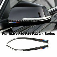 Carbon Fiber Side Rearview Mirror Cover Trims For BMW 1 2 3 4 Series F21 F30 F34