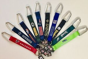 "Caribiner Lanyard Keychain 8"" NFL Pick Your Team Football NEW!"