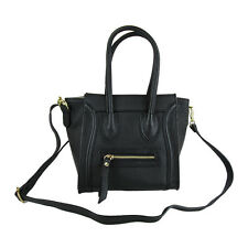 Borsa vera pelle Made in Italy con tracolla FG little Celin nero