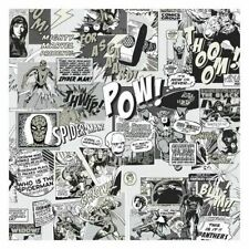 York DI0946 Wallpaper Marvel Comics Pow Unpasted Neutral Wallcoverings