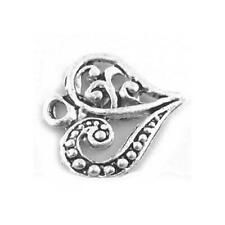 Heart Charm/Pendant Tibetan Antique Silver 14mm  15 Charms Accessory Jewellery