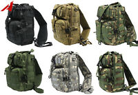 Tactical Molle Hydration Shoulder Sling Backpack Pack Hunting Camping Hiking Bag