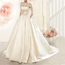 Neu A-Linie Spitze Hochzeitskleid Ballkleid Brautkleider Abendkleid Gr:32/34/36+