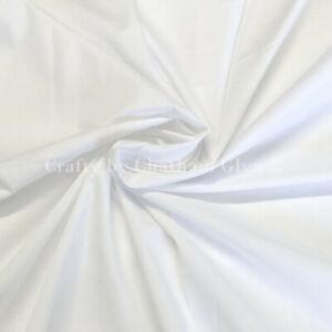 "Polycotton Plain Dyed Fabric 112cm (45"") Wide White"