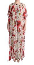 NEW $2400 DOLCE & GABBANA Dress Silk Floral Tunic Cape Kaftan Gown IT38 / US6 /S