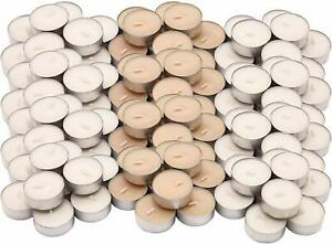 120 Sweet Vanilla Scented Tealight Candles Fragrance Tealights Party Wedding 4hr