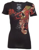 Archaic AFFLICTION Womens T-Shirt Top WAGER Sexy UFC Sinful S-XL $40 a