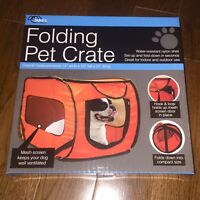 Pet Crate Carrier Travel Cat Dog Kennel Soft Side Medium Easy Pop Up Car Vet