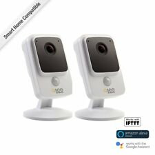 New Q-See QCW4K1MCW-2 4K Wifi Cube Security Camera PIR Night Vision White 2-Pack