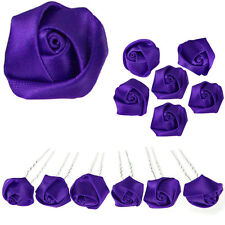 6 epingles pics à cheveux chignon mariage mariée lolita Violet violettes intense