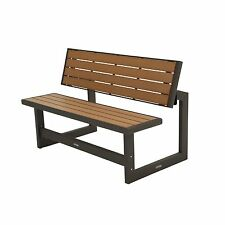 Lifetime Outdoor or Indoor Convertible Patio Bench to Picnic Table, Mocha Brown