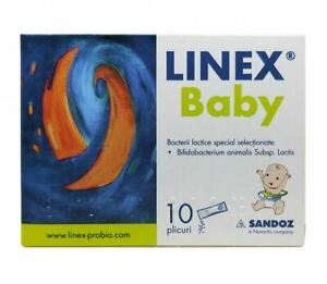Linex Baby Powder 10 Sachets - Colic Flatulence Diarrhea - Treats Dysbacteriosis