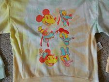 Disney girls XS tie dye crew sweatshirt