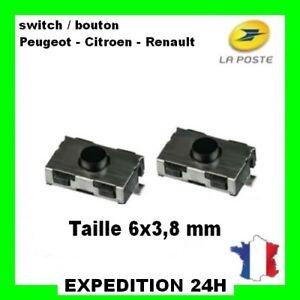 2X Switch PEUGEOT CITROEN ►Bouton Poussoir Interrupteur Clé Télécommande Plip GZ