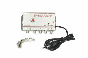 Amplificatore segnale tv sdoppiatore antenna 1 ingresso 4 uscite