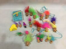 Vintage Collection Of Troll Dolls ~ Rare Jewellery Box Small Tiny Trolls Rings