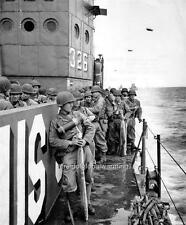 Photo. WW2. Men of the 90th Infantry Division on their way to Utah Beach