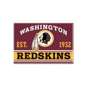 "WASHINGTON REDSKINS EST. 1932 2.5"" x 3.5"" METAL MAGNET NEW WINCRAFT 👀🔥"