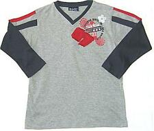 Boys grey navy blue l/s cotton t shirt sz 12 NEW