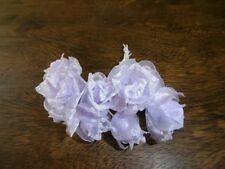 Brautfrisur Braut Kopfschmuck Hochzeit 9 Stoffblumen ~ Handarbeit ~ lila NEU
