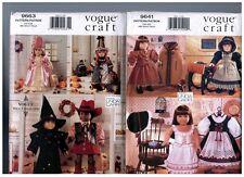 "VOGUE 9663 & 9641 PATTERNS Doll Dress Coats Costumes Hats 18"" American Girl"