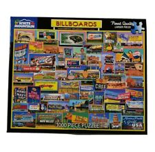 "White Mountain Puzzle BILLBOARDS #1351 1000 Pieces 24""x30""  Complete"