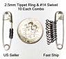 2.5mm Fly Leader Tippet Ring & #14 Micro Swivel *COMBO* Dry/Wet/Nymph FREE SHIP