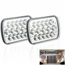 "Pair 7X6"" 5X7"" 45W LED Headlight Bulb fit for Jeep Wrangler YJ Xj Chevy Cherokee"