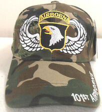 MILITARY BALL CAP 101ST AIRBORNE ARMY HAT  CAMOUFLAGE WITH SHADOW