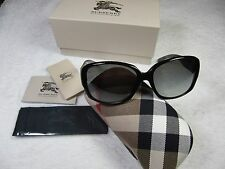 Burberry Sunglasses BE 4128 3001/11 BLACK GRADIENT GRAY 100% Authentic Brand New