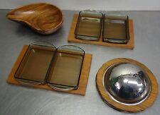 mid century design - Teak Schale Schüsseln Set vintage Danish bowl 4 Teile ~60's