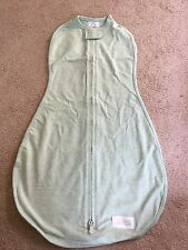 WOOMBIE Original One-step BABY SWADDLE Green 3-6m 14-19 lbs Soft Stretchy NEW