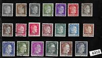 #6310  Complete stamp set / Ostland Overprints / Adolph Hitler / WWII Occupation