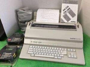 Brother EM-530 Office Electric Typewriter w/ Ribbon & Cover Heavy Duty - TESTED!