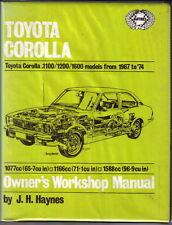 Toyota Corolla 1100, 1200, 1600 Haynes Owners Workshop Manual 1967-1974