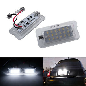 Pair LED License Number Plate Light Lamp For Fiat 500 500C 312 Abarth 500 2007+