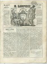 Giornale Il Lampione Lorenzini Collodi Luigi Buonaparte Presidente Cacciato 1849