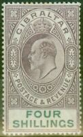 Gibraltar 1903 4s Dull Purple & Green SG53 Fine & Fresh Lightly Mtd Mint (3)