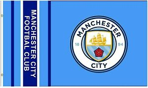 Official MANCHESTER CITY FC Flag  5ft x 3ft MAN CITY Gift