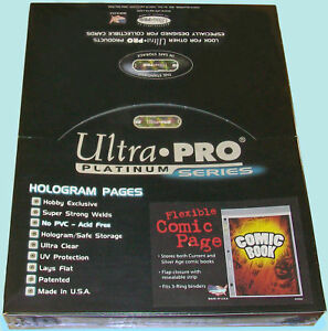 30 x Ultra Pro 1 Pocket Comic Book Flexible Sleeves Pages with Resealable Flap