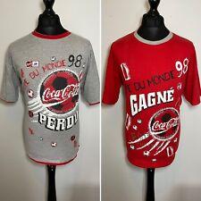 Coca Cola World Cup France 98 Coupe Du Monde Reversible T Shirt Vintage XL RARE
