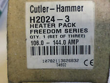 CUTLER HAMMER - H2024-3 -- 3 SETS of  HEATER PACK-- 105A OR 144A OVERLOAD RELAYS