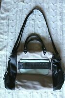 Steve Madden Black/Tan/Blue Faux Leather Large Bag Purse